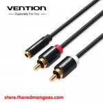 Vention R01 3.5mm Female to 2 RCA Male Audio Cable 1.5m
