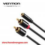 Vention R01 3.5mm Female to 2 RCA Male Audio Cable 1m