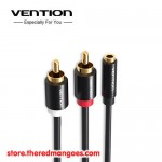 Vention R01 3.5mm Female to 2 RCA Male Audio Cable 2m