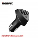 Remax RC-C304 Car Charger Alien 3 Ports With Voltage Indicator Black