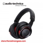 Audio Technica ATH-WS990BT Solid Bass Wireless Headset Black Red