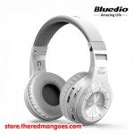 Bluedio H+ Headset Bluetooth With Micro SD Slot and FM Radio White