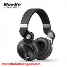Bluedio T2+ Headset Bluetooth With Micro SD Slot and FM Radio Black