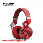 Bluedio T2+ Headset Bluetooth With Micro SD Slot and FM Radio Red