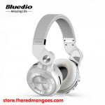 Bluedio T2+ Headset Bluetooth With Micro SD Slot and FM Radio White