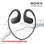 Sony NW-WS413 4 GB Waterproof MP3 Player Black with Swimming Earbuds