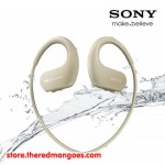 Sony NW-WS413 4 GB Waterproof MP3 Player Ivory with Swimming Earbuds