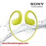 Sony NW-WS413 4 GB Waterproof MP3 Player Lime Green with Swimming Earbuds