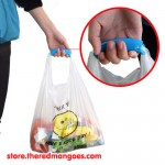 Silicone Shopping Handle Carry Bag Helper Tool Grocery Holder Blue