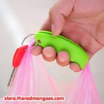 Silicone Shopping Handle Carry Bag Helper Tool Grocery Holder Green