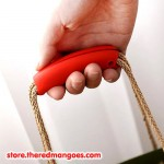Silicone Shopping Handle Carry Bag Helper Tool Grocery Holder Red