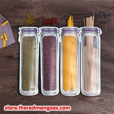 Zipper Bag Jar Zip Lock Food Container Long