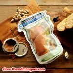 Zipper Bag Jar Zip Lock Food Container XL