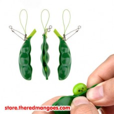 Edamame Pea Bean Soybean Stress Relieve Squishy Toy Cute Keychain